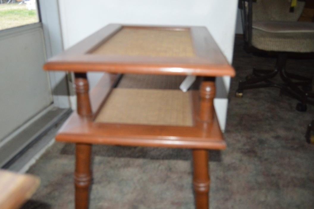 vintage mid century wood end table