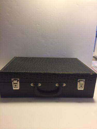 Vintage Aligator Skin Look Cassette Case (holds 30 Cassettes)