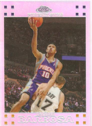 Leandro Barbosa Topps Chrome 07-08 #54 Refractor #'d 999 Phoenix Suns Warriors