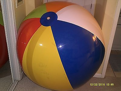 72'' Vintage Beachball by Inflatable World Collectors Item
