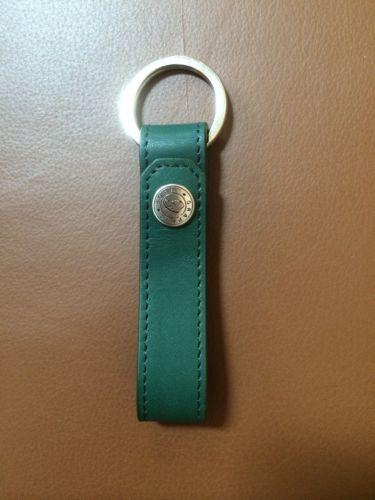 NIP DARK GREEN LEATHER KEY RING LOOP 4-1/2
