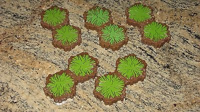 Five Heroscape 2-Hex Grass Terrains (used)  ---  Free Shipping!