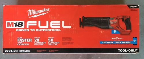Milwaukee 2721-20 M18 FUEL One-Key SAWZALL Reciprocating Saw Bare Tool New