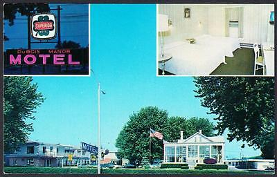 DUBOIS MANOR MOTEL Dubois Pennsylvania Postcard 4278