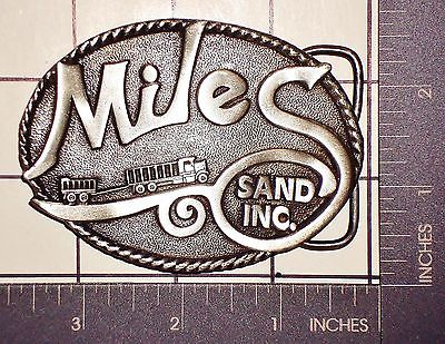 Miles Sand Inc Belt Buckle by B&B Buckles