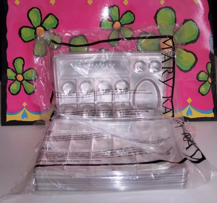 New & Sealed 3 Mary Kay CLEAR DISPOSABLE TRAYS For Sampling - 3 Pk of 30 each