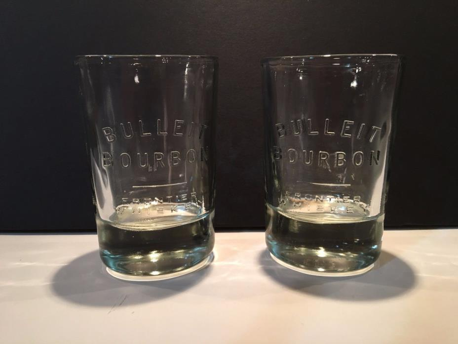Two (2) Bulleit Bourbon Glasses - Frontier Whiskey