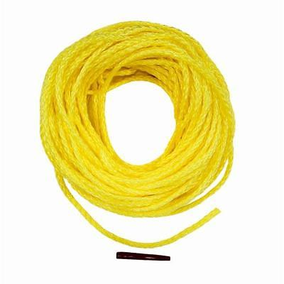 50' Polypropylene Hollow Braid Floating Rope, Yellow The Lehigh Group DF850LW