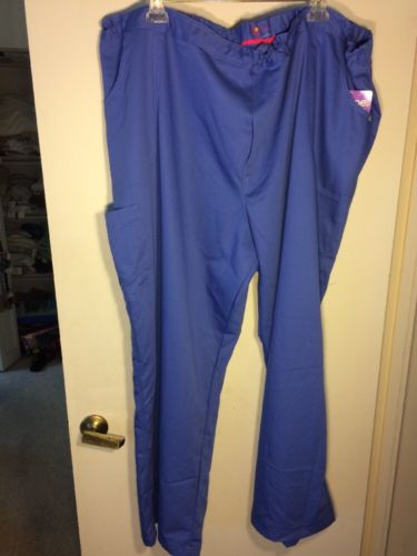 NWT Urbane Ultimate Size 5XL Blue Scrub Pants w/Hidden Inside Drawstring