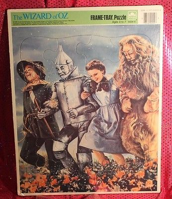 The Wizard of OZ Frame Tray Puzzle 1988 VTG 4552B-12 Used Condition.