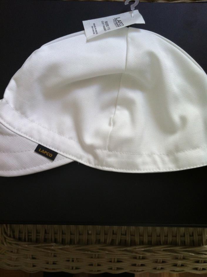 Welding Caps LAPCO  White (6 caps)  NWT Size 7 3/4 NWT