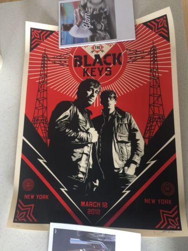 Black Keys Print / Poster Shepard Fairey OBEY Madison Square Garden