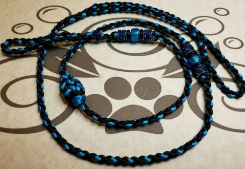 Nylon Satin Cord Braided And Beaded Dog Show Loop Lead