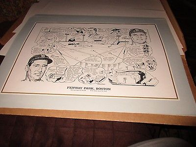 Fenway Park Boston--LITHOGRAPH PRINT BY AMADEE
