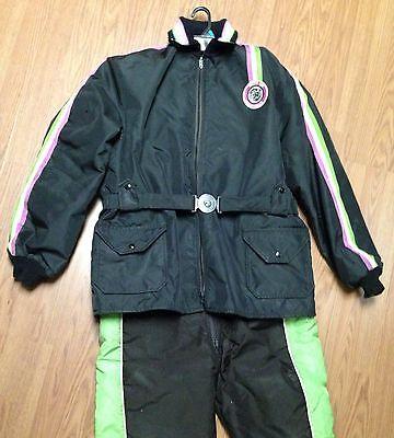 ~Vintage~ARCTIC CAT~WEAR~2-Pc~SNOW~Mobile~SUIT~Jacket~Coat~Pants~BIB~Large~Tall