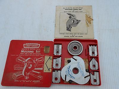Craftsman Radial Arm Saw Molding Set Head and 12 Blades
