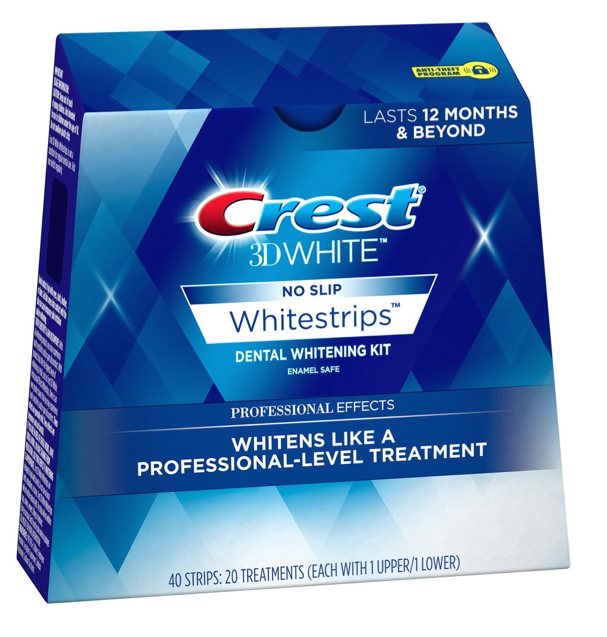 Crest 3D No Slip Whitestrips Professional Effects 40 Strips 20 Treatments 3/19