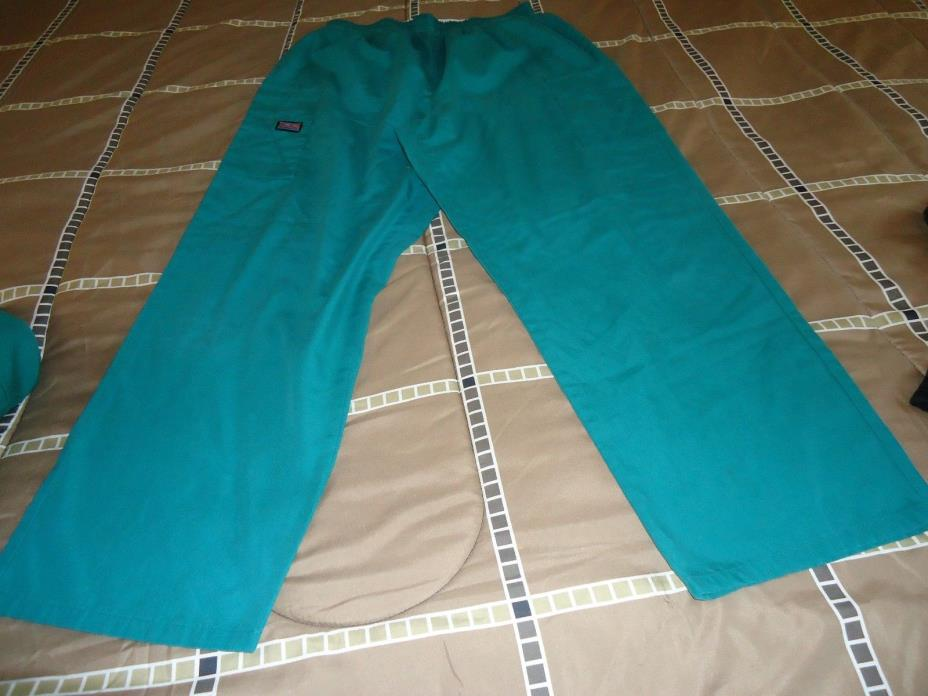 MISSES SCRUB PANTS GREEN SIZE MEDIUM CHEROKEE BRAND INSEAM 26 INCHES
