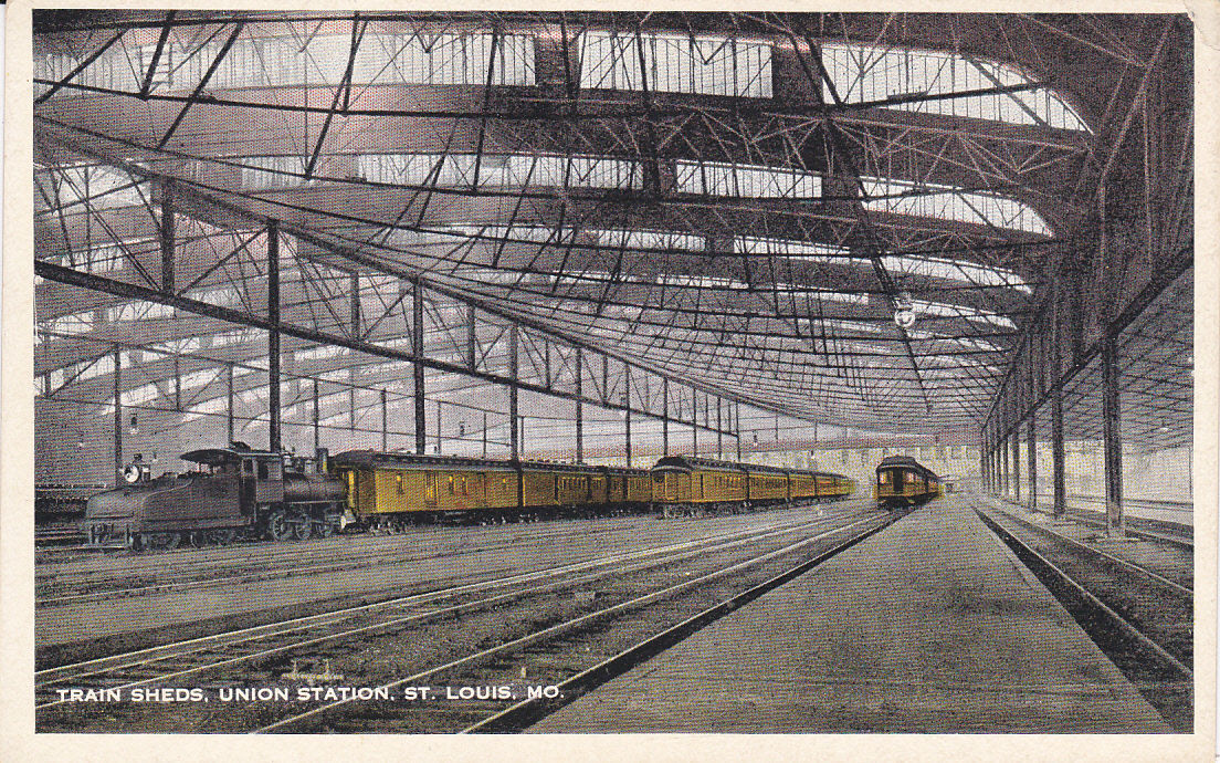 ST. LOUIS, Missouri, 1900-1910's; Train Sheds, Union Station