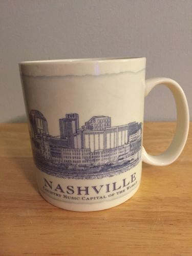 Starbucks 18 oz Nashville TN City Architecture City Coffee Mug Cup 2007