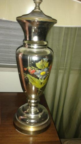Art Deco  Bohemian Mercury Glass Table Lamp Vintage
