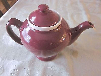 VINTAGE McCORMICK / HALL Burgundy TEA POT w INFUSER
