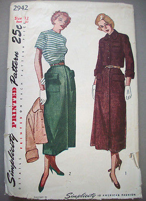 1940's 4-gore skirt big pocket bolero jacket pattern 2942 size 12