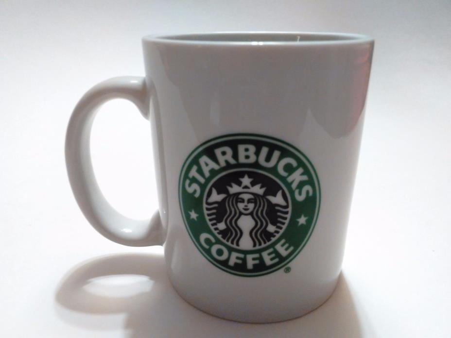 Starbucks Logo White and Green Coffee Mug 12 oz.-Made In Taiwan