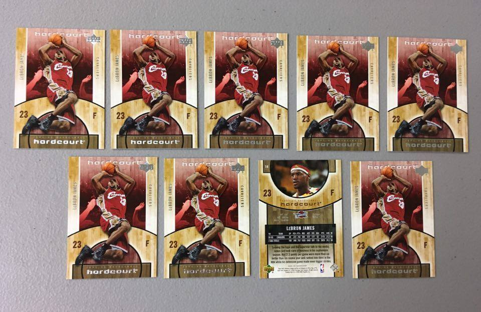 (x9) 2005-06 Upper Deck Hardcourt LEBRON JAMES lot/set #14 3rd year cards smokin