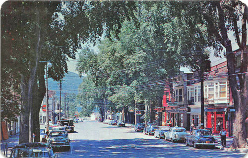 Middleburgh NY New Main Street Storefronts Old Cars Postcard