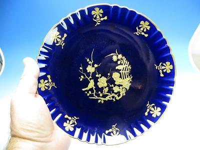 Minton China - Cobalt Blue - Aesthetic Scene Gold Gilded Decoration - Plate