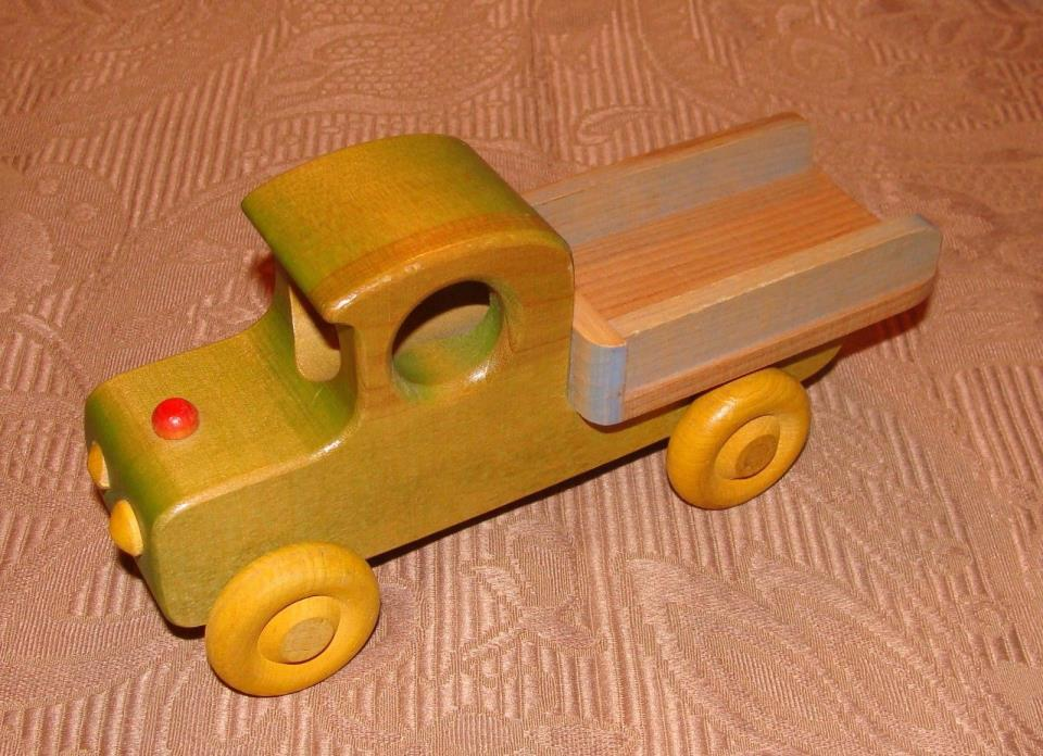 Hand Made Wooden Toy, Pickup Truck