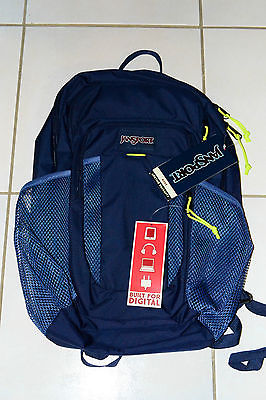 Official Brand new with tags JanSport Node Backpack 27L navy/lime JS0A2T39