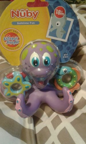 Nuby Octopus Hoopla Bathtime Fun Toys Purple