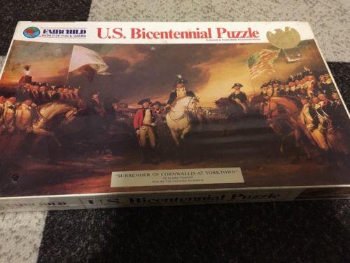 Fairchild US Bicentennial Puzzle Surrender Of Cornwallis At Yorktown NIB Vintage