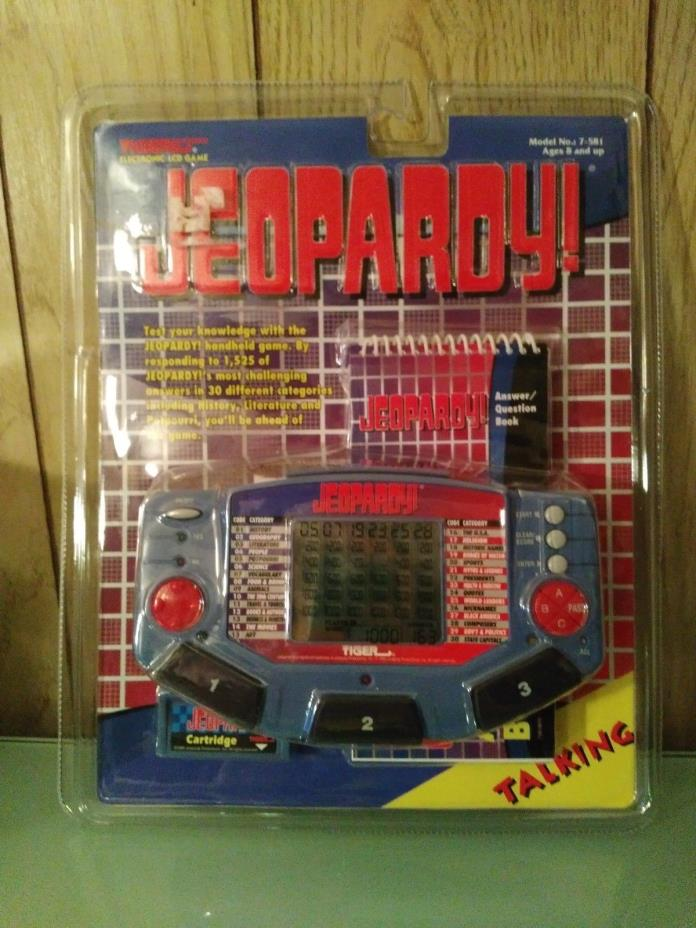 New NIB Jeopardy Talking Electronic Handheld Game Tiger 1995 Sealed