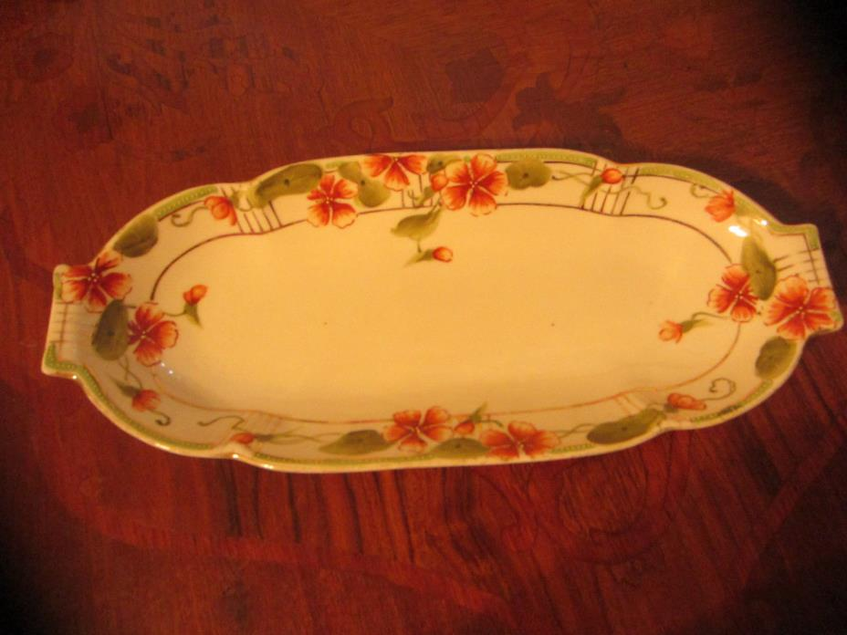 Vtg. Nippon Hand Painted 12 in. Celery Dish
