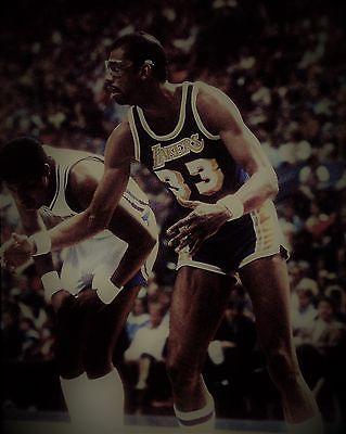 Kareem Abdul-Jabbar Vintage Basketball 8 x 10 Print LA Laker Hall Of Famer