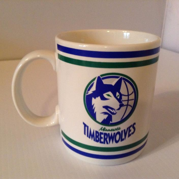 Vintage Minnesota Timberwolves NBA Coffee Mug Cup license by Papel