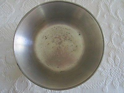 Pewter or Stainless Steel (?) Award Bowl