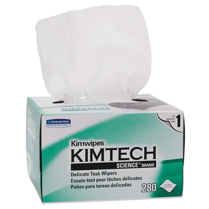 Kimberly Clark KIMTECH KIMWIPES Kim Wipes LINTFREE Cloth Task - 3  Boxes of 280