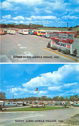 Niagara Falls NY Sunny Acres Mobile Home Sales Duo-View Postcard