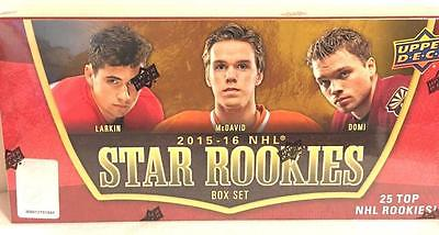 2015-16 UPPER DECK STAR ROOKIES HOCKEY BOX SET (25 CARDS)