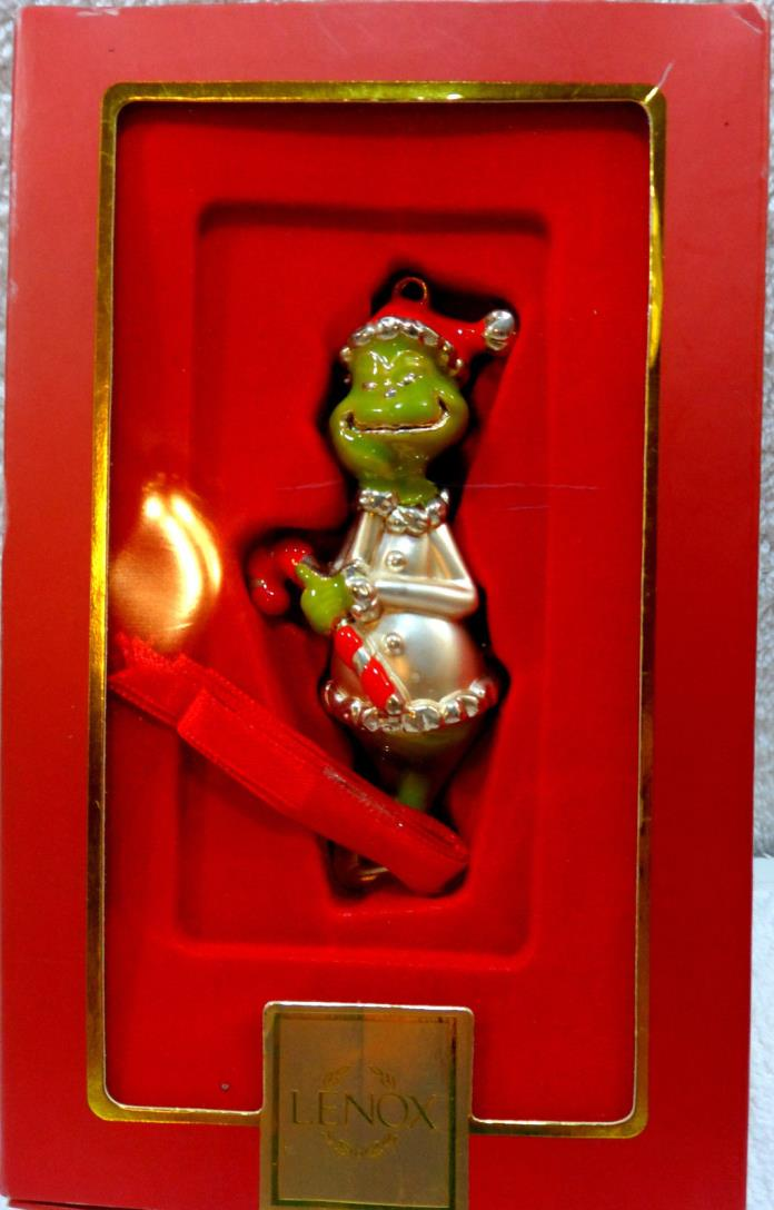 CHRISTMAS ~ LENOX ~ Greedy Grinch ~ Enamel Baked on Metal Ornament