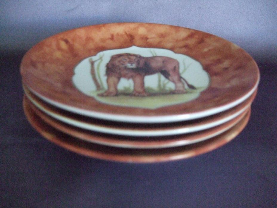I. Godinger Limoges Wild Animal Small Dessert Plates