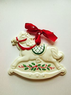 LENOX Christmas Ornament Rocking Horse Holiday Cookie Press Mold