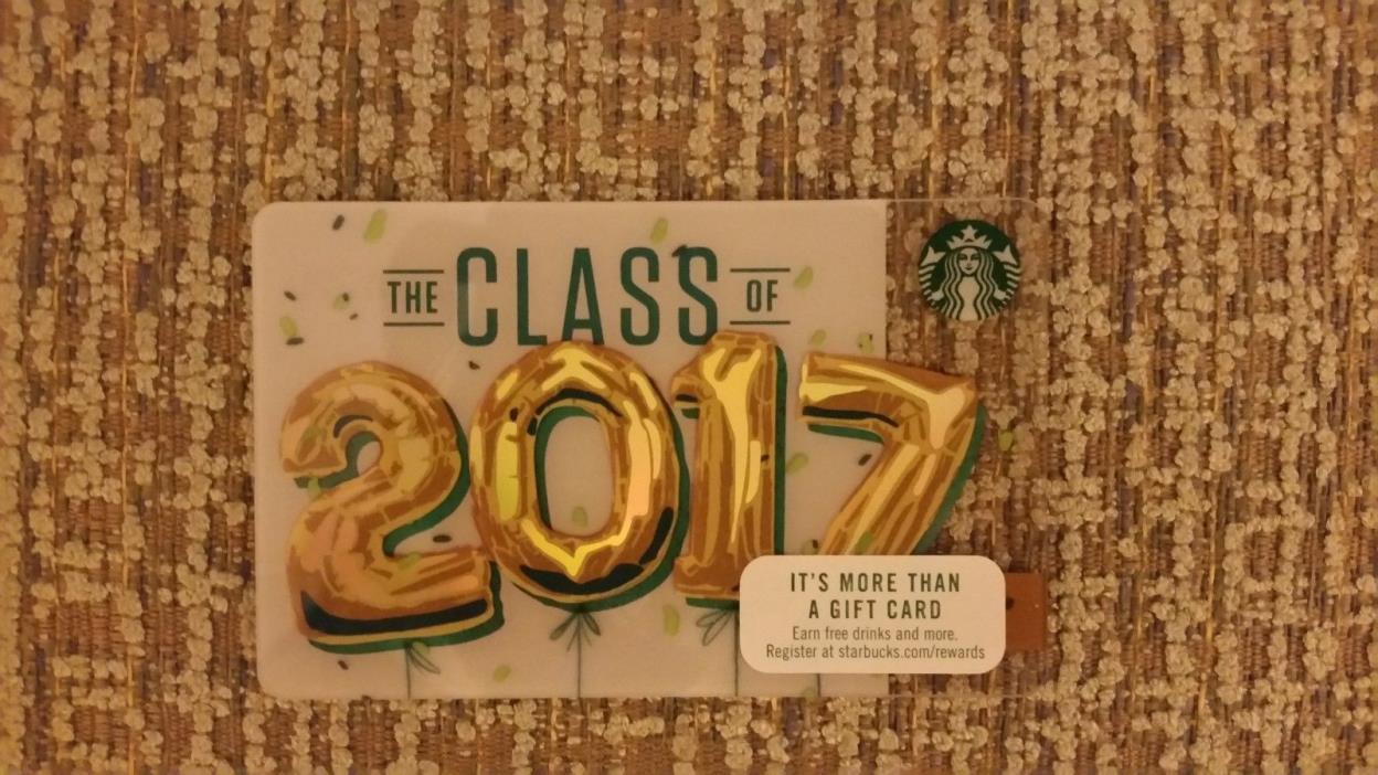 Starbucks Gift Card - Class of 2017 - no balance