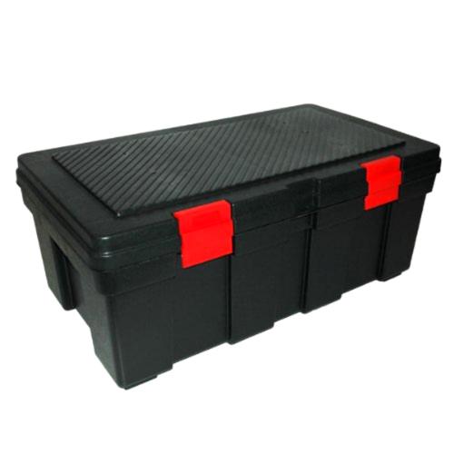 Pickup Truck Bed Garage Storage Locking Tool Box Cargo Locker Trunk Black Chest