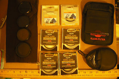 CAMERA LENS FILTER LOT, NICE!, SEE..... 52MM UV(0) AND OTHERS HOYA