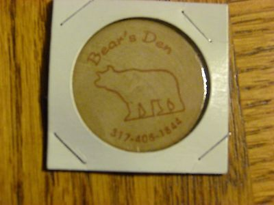 Bear's Den Woodcrafting Token Kirklin Indiana
